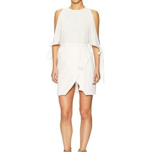 Lucca Couture Mini Dress S Tie Sleeve White NEW